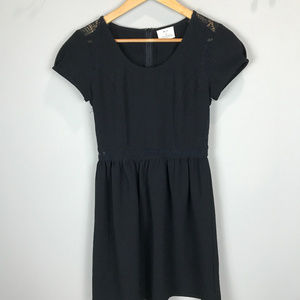 Women's Sz 2 Black Cap slv Pins and Needles dress